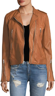 Rag & Bone Lyon Zip-Front Leather Jacket