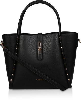 2b94368ac Black Studded Handbag - ShopStyle UK