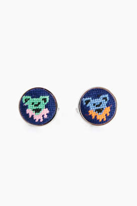 Smathers and Branson Dancing Bears Needlepoint Cufflinks