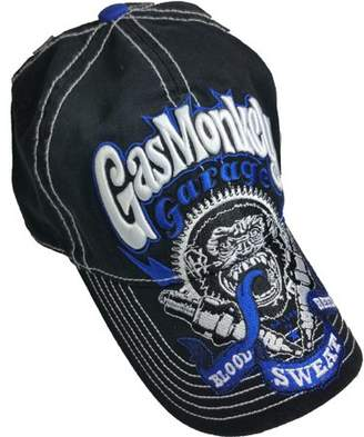 Supplier Generic Men's Gas Monkey Washed Baseball Hat with Embroidered Bill