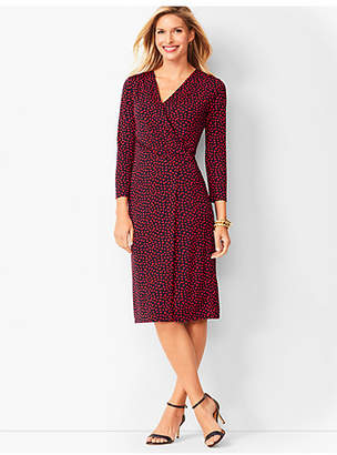 Talbots Faux-Wrap Jersey Sheath Dress