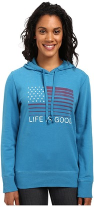 Life is good Flag Stripe Go-To Pullover Hoodie $52 thestylecure.com