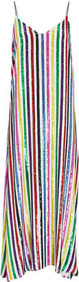 Caroline Constas Rainbow Sequin Midi Dress