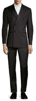 Saks Fifth Avenue Modern-Fit Double-Breasted Wool & Silk Tuxedo