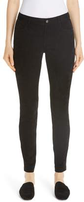 Lafayette 148 New York Mercer Suede Front Skinny Pants