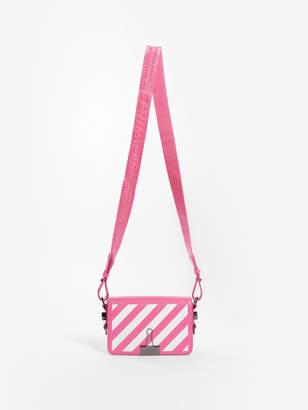 Off-White Off White C/O Virgil Abloh WOMEN'S PINK DIAG MINI FLAP BAG