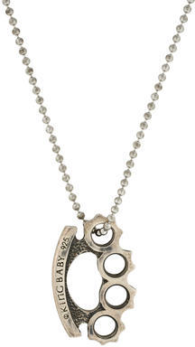 King Baby Studio Brass Knuckles Pendant Necklace $275 thestylecure.com