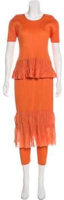 Pleats Please Issey Miyake Plissé Knee-Length Skirt Set