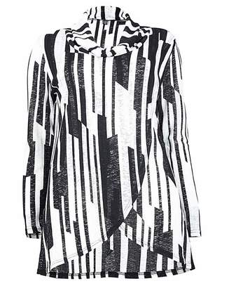 Izabel London Curve Stripe Roll Neck Top