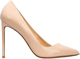 Francesco Russo Nude Patent Leather Pumps