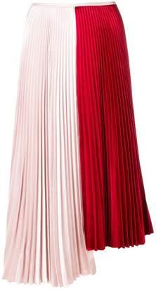 Cédric Charlier asymmetric pleated skirt