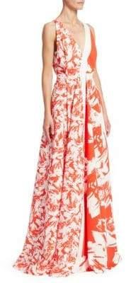 Roland Mouret Berkeley Floral Maxi Dress
