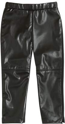 Milly Minis Faux Leather & Interlock Leggings