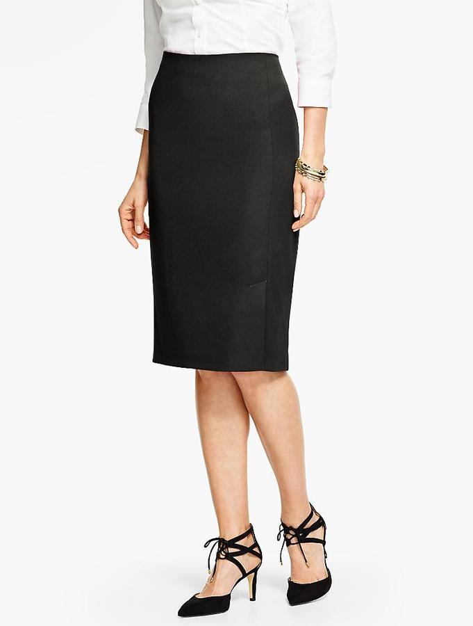 Italian Flannel Pencil Skirt