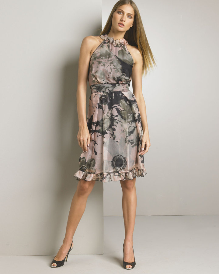 D&G Dolce & Gabbana Printed Halter Dress