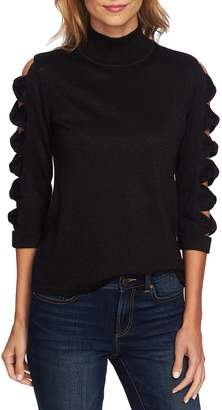CeCe Bow Sleeve Turtleneck