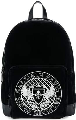 Balmain logo backpack