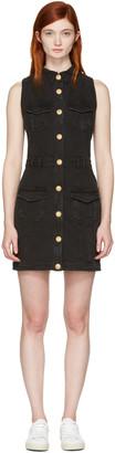 Balmain Black Denim Four Pockets Dress $1,965 thestylecure.com