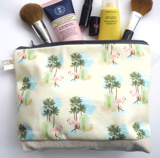 Yellowstone Art Boutique Standard Handmade Flamingo Cosmetic Bag