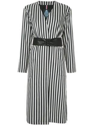 GUILD PRIME striped belted coat