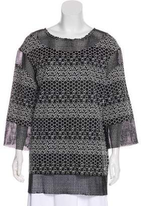 Chanel Embroidered Mesh Tunic