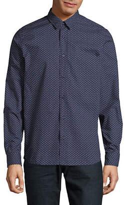 HUGO Printed Cotton Straight-Fit Dress Shirt