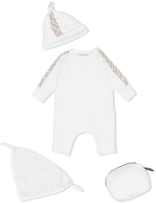 Burberry three-piece baby gift set