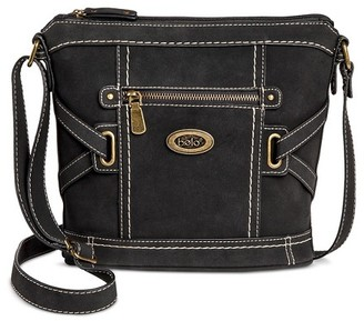 Bolo Women's Faux Leather Crossbody Handbag with Front/Back/Interior Compartments - Black $29.99 thestylecure.com