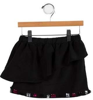 Milly Minis Girls' Embellished Mini Skirt