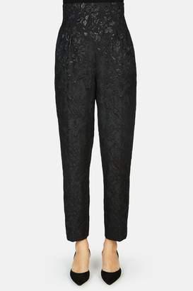 Erdem Nella Cropped Tailored Trouser - Black