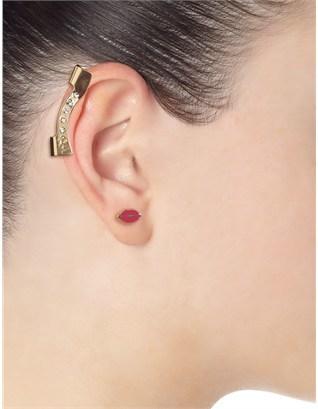 Maria Francesca Pepe Gold Swarovski Long Ear Cuff