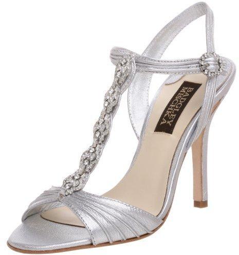 Badgley Mischka Women's Isabetta II T Strap Ornamneted Sandal