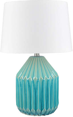 Webster Temple & Blue Glaze Nori Ceramic Table Lamp