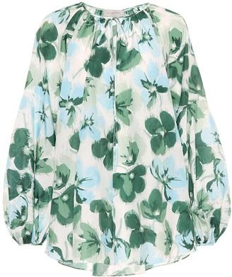 Lee Mathews Bridget cotton and silk blouse