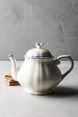 Gien Faiencerie De  Filet Bleu Teapot