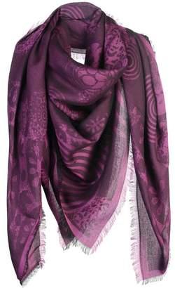 Silk Square Scarf - grey violet by VIDA VIDA z4gbyVwEQb