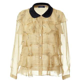 SUPERSWEET x moumi - Pearldrop Frilly Shirt