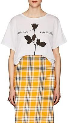 """R 13 Women's """"Boy"""" Cotton-Cashmere Graphic T-Shirt"""