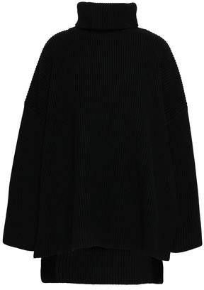 Joseph Wool And Cotton-blend Turtleneck Poncho