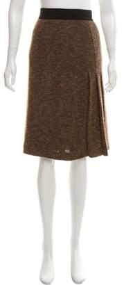 Akris Knee-Length Pleated Skirt