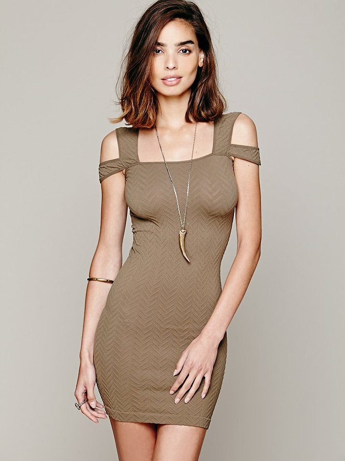 Free People Off the Shoulder Bodycon