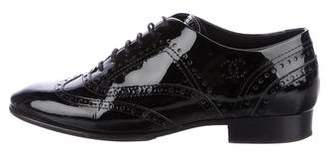 Chanel Brogue Patent Leather Oxfords