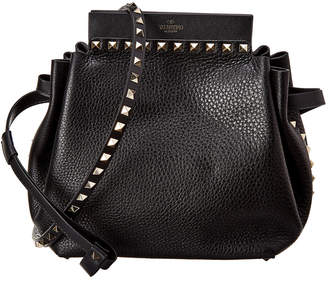 Valentino Rockstud Large Grainy Leather Bucket Bag
