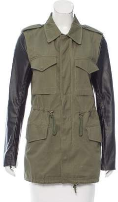 Veda Casual Leather-Trimmed Jacket
