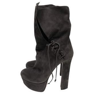 Alaia Grey Suede Boots