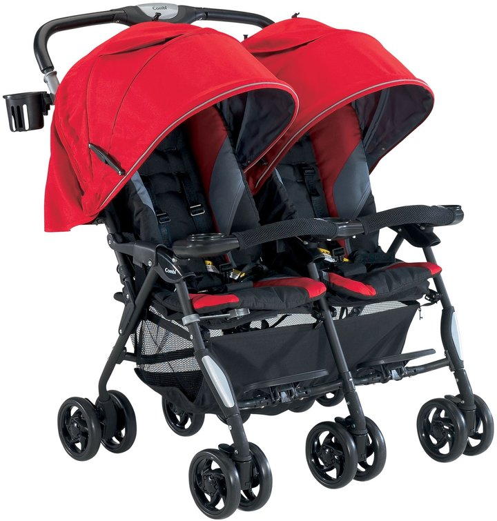 Combi Cosmo Twin Stroller - Red