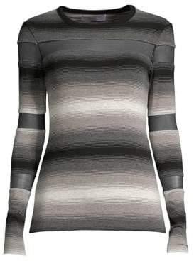 Bailey 44 Striped Illusion Cutout Top