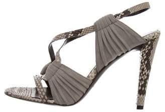 Balenciaga Python Crossover Sandals