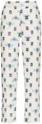 Johanna Ortiz Momposina slim insect print trousers