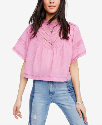 Free People Cotton Lush Life Illusion Flyaway Crop Top $108 thestylecure.com